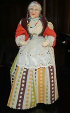 "Antique Ravca French Doll Provence Pleasant Woman 13.5"" Made France"