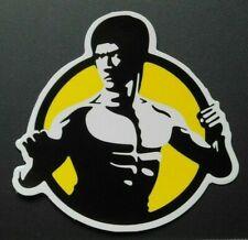 "Sticker Aufkleber ""Bruce Lee"" Glanz-Optik Stickerbomb Skateboard Laptop"