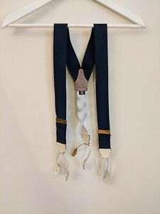 Albert Thurston Blue Box Cloth Braces