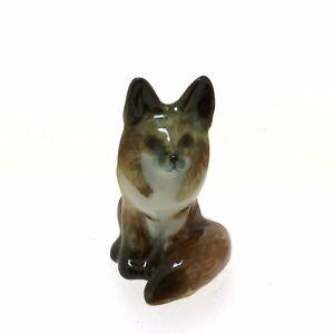 Miniatures Fox Ceramic Figurine Tiny Craft DIY Terrarium Decor