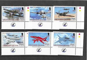 Ascension 2008 90th Anniv of The RAF SG1010-1015 Cat £14.00  MNH
