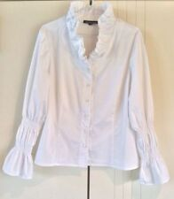 Women's Regular Long Sleeve Sleeve Cotton Blend Button Down Shirt Tops & Blouses