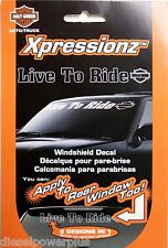 harley davidson LIVE TO RIDE motorcycle bike Front Window decal sticker HD REAR