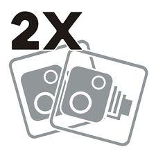 2X Car CCTV Camera Icon Grey Car Van Taxi Window Bumper Sticker Decal Dash Cam