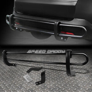 FOR 11-16 TOYOTA SIENNA XL30 BLACK COATED DOUBLE BAR REAR BUMPER PROTECTOR GUARD