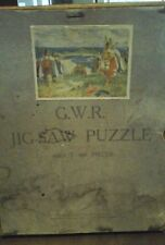 1920S GWR WOODEN JIGSAW PUZZLE VIKINGS LANDING AT ST IVES CHAD VALLEY INCOMPLETE
