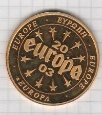 Medaille Europa 2003 vergoldet Malta 22 Gramm schwer polierte PLatte