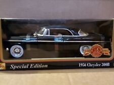 Maisto 1956 Chrysler 300B 1:18 Scale Diecast Model Car Black Special Edition