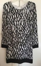 Cache black and white sequin dress.Size 10