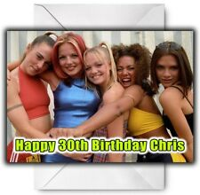 SPICE GIRLS Personalised Birthday / Christmas / Card - Large A5
