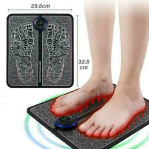 EMS Leg Reshaping Foot Massager Mat Pad Blood Relief Pain Rechargeable