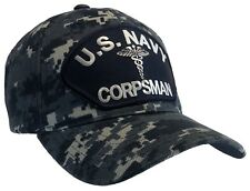 Corpsman Hat Us Navy Blue Digital Camo Ball Cap