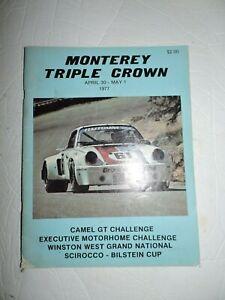 Vintage 1977 Monterey Triple Crown Race Program-Laguna Seca Raceway-Camel GT