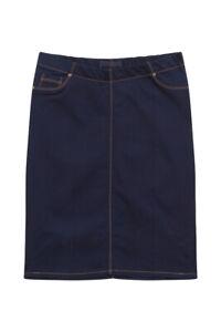 Plus Size Denim Skirt, Denim Midi Skirt Curve, Denim Pencil Skirt Sizes 16-28