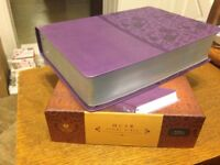 CSB HCSB Study Bible, Retail $69.99 Purple LeatherTouch Large 9 point font