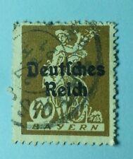 Briefmarke Bayern 40 Pfennig mit Aufdruck Deutsches Reich SELTEN