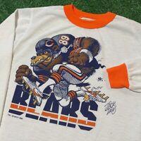 Chicago Bears T Shirt Boys L Adult XS White Vintage 80s NFL Football Ditka USA
