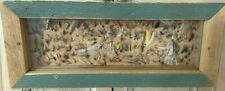 Vintage Fred Arnold Hand Tied Fishing Flies Display Case :1950's Excellent