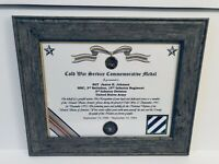 Military Commemorative / Cold War Service Commemorative Medal Certificate