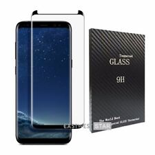 """Black 3D Curved Galaxy S8 5.8"""" Tempered Glass Screen Protector[Case Friendly] US"""