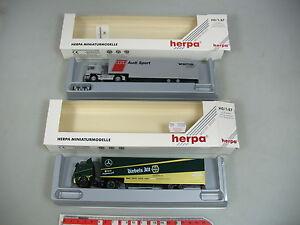 AI612-0, 5 #2x Herpa H0 Truck/Lorry : 035651 Man +035613 Mercedes MB, Mint+Box