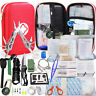 241Pc Outdoor Emergency Survival Kit Camping Hiking Hunting Compact Medical Gear