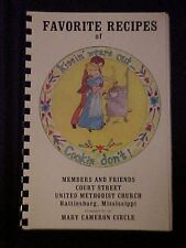 Favorite Recipes of Court Street United Methodist Church Cookbook Hattiesburg MS