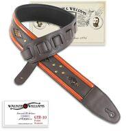 Walker & Williams GTR-10 Dark Brown Padded Strap with Snakeskin & Brass Studs