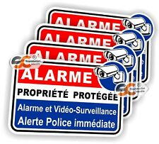 Sticker Alarme - Lot de 4 Stickers - Autocollant - ( iphone samsung Ps4 ipad )