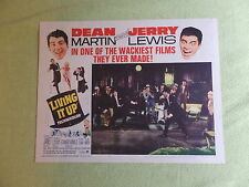 1965 JERRY LEWIS Dean Martin LIVING IT UP Lobby Card LC R-65/258