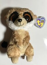 850cb923784 TY Beanie Boos REBEL Plush Meerkat Solid Eyes Purple Tag 2011 Retired