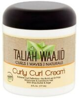 Taliah Waajid Curls, Waves & Naturals Curly Curl Cream, 6 oz (Pack of 2)