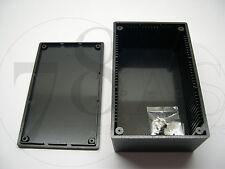 CONTENITORE ABS NERO PER ELETTRONICA  160 x 95 x 55 mm - WCAH2851