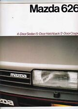 1987 MAZDA 626 SEDAN, COUPE HATCHBACK Australian Brochure Inc TURBO
