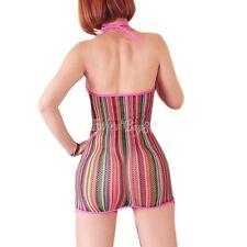 Women Sexy/Sissy Sheer Dress Fishnet Bodycon Lace Nightwear See Through Babydoll