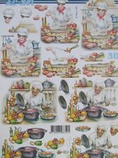 3D A4 Paper Tole Cooking Master Chef Card Making NEW