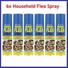 6 X 200ml Household Flea Killer Spray for Home Pet Dog Cat Tick Protection