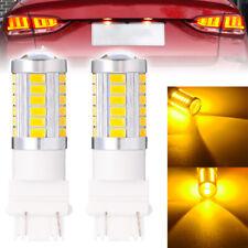 2x 3157 3156 3057 33LED Car Tail Backup Reverse Turn Signal Light Bulb Amber