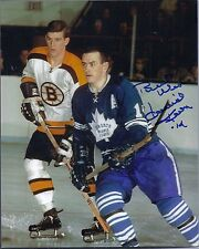 """David """"Dave"""" Keon Toronto Maple Leafs Signed Autographed 8x10"""