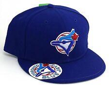 Toronto Blue Jays New Era 59Fifty Wool Logo Vize Retro Blue Fitted Hat Cap 7 5/8