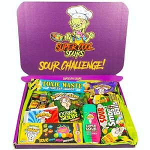 Sour Challenge Selection Gift Box - American Sour Sweets Toxic Waste Warheads