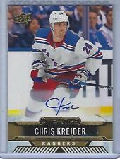 Chris Kreider 17/18 Upper Deck Overtime GOLD Auto