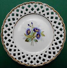 Biedermeier,Teller,floraler Dekor,Porzellan,Durchbruch,Handmalerei,1840/60,TOP