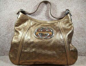 Used Gucci Large Nieman Marcus Exclusive 2007 Guccisima Shoulder Handbag
