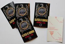 "Slayer 5 Def American ""Slayer is Coming"" Record Company Stickers 1990"
