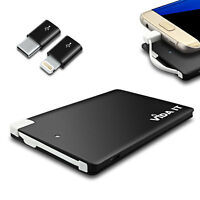 Portable Power Bank Emergency Charger Built In Micro USB Cable For Smartphone