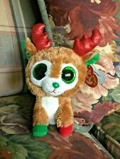 TY BEANIE BOO'S Christmas Winter DEER ALPHINE Red Antlers