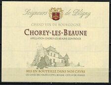 Etiquette Vin de Bourgogne - Chorey les Beaune - Seigneurs de Bligny - Réf.63