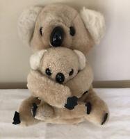 "Vintage Koala Mom and Baby Plush 10"" Stuffed AnimalLight Brown"