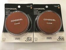 TWO Covergirl Clean Pressed Powder, 135 Medium Light